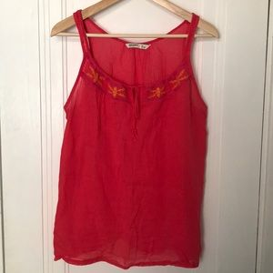 Old Navy muslin cotton tank top w/ embroidery